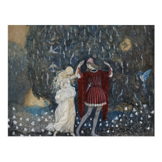 John Bauer - Lena Dances with the Knight Postcard