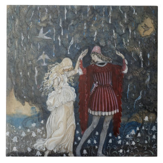 John Bauer - Lena Dances with the Knight Tile