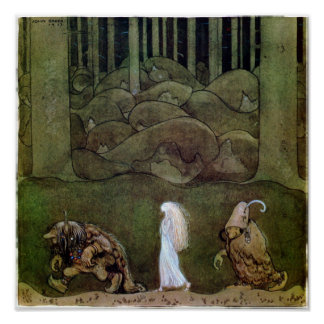 John Bauer One summer's evening  Poster