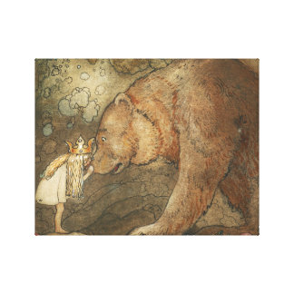 John Bauer - Poor Little Basse Canvas Print