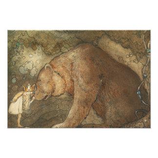 John Bauer - Poor Little Basse Photo Print