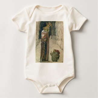 John Bauer - Princess and Troll Baby Bodysuit