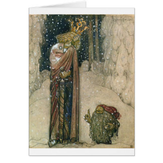 John Bauer - Princess and Troll Card
