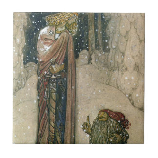 John Bauer - Princess and Troll Ceramic Tiles
