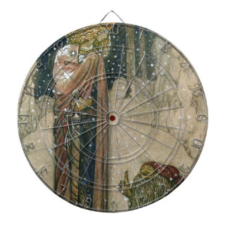 John Bauer - Princess and Troll Dartboard With Darts