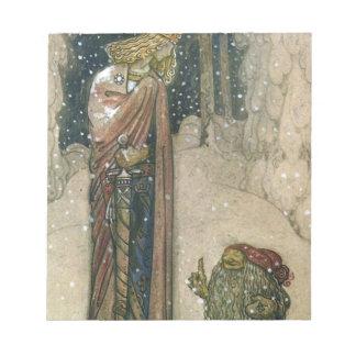 John Bauer - Princess and Troll Notepad