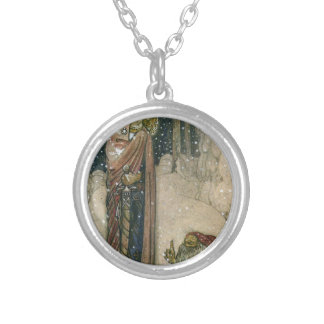 John Bauer - Princess and Troll Silver Plated Necklace