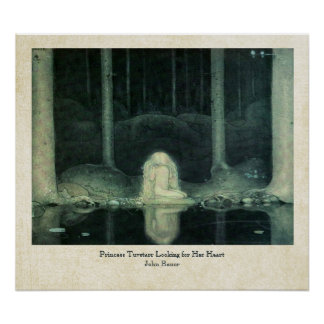 John Bauer Princess Tuvstarr Looking For Her Heart Poster
