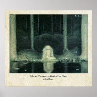 John Bauer Princess Tuvstarr Looking For Her Heart Poster