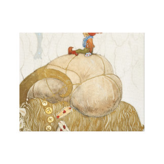 John Bauer - The Christmas Goat Canvas Print