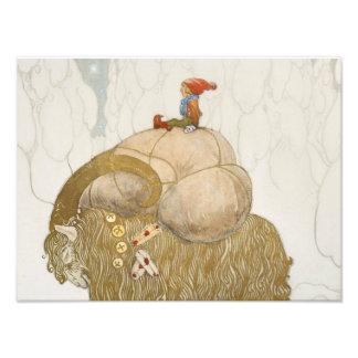 John Bauer - The Christmas Goat Photo Print