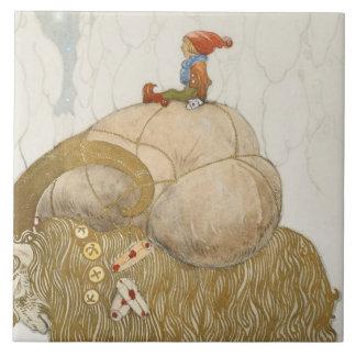 John Bauer - The Christmas Goat Tile