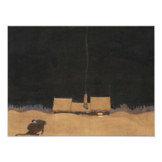 John Bauer-The Cottage at the Foot of the Mountain Photo Print