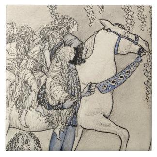 John Bauer - The Horse He Led at the Bit Tile