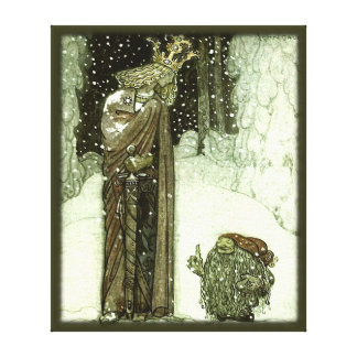 John Bauer The Princess and the Troll Gallery Wrapped Canvas