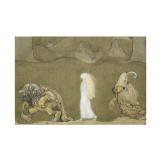 John Bauer - The Princess and the Trolls Canvas Print