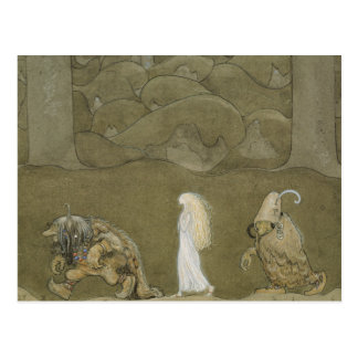 John Bauer - The Princess and the Trolls Postcard