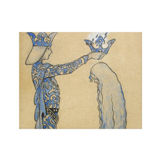 John Bauer - Then Put the Prince a Crown of Gold Canvas Print