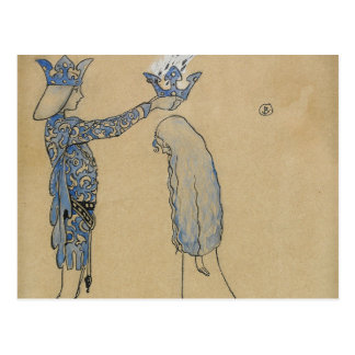 John Bauer - Then Put the Prince a Crown of Gold Postcard