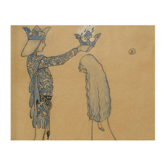 John Bauer - Then Put the Prince a Crown of Gold Wood Wall Art