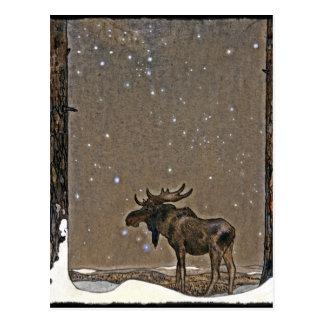 John Bauer's Christmas Moose Postcard