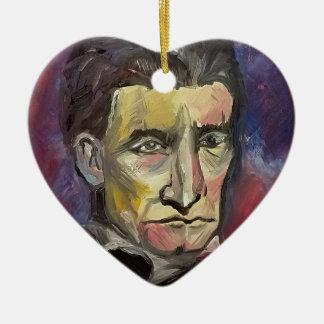 John Brown #Insta Ceramic Heart Ornament
