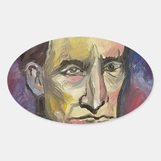 John Brown #Insta Oval Sticker