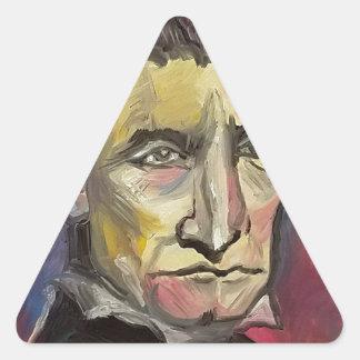 John Brown #Insta Triangle Sticker