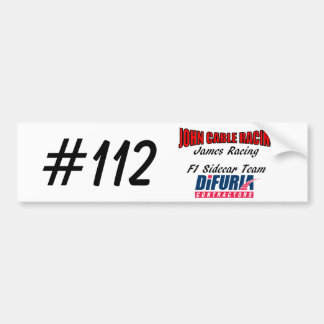 John Cable & James Racing Bumper Sticker