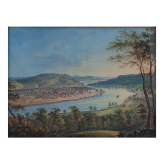 John Caspar Wild - View of Cincinnati From Covingt Poster