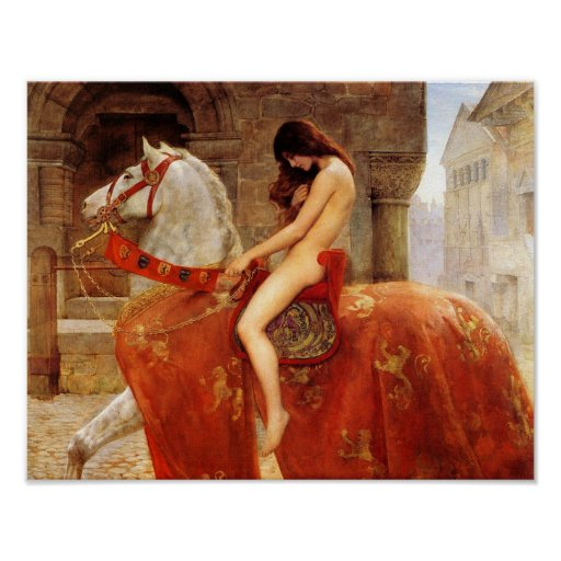 "John Collier ""Lady Godiva"" 1898 Reproduction Poster"