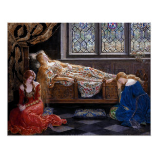 John Collier The Sleeping Beauty Poster