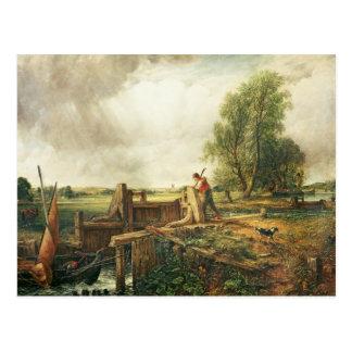 John Constable | A Boat Passing a Lock Postcard