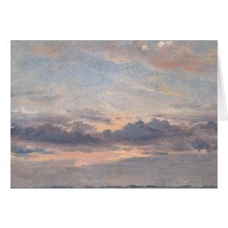 John Constable - A Cloud Study, Sunset Card