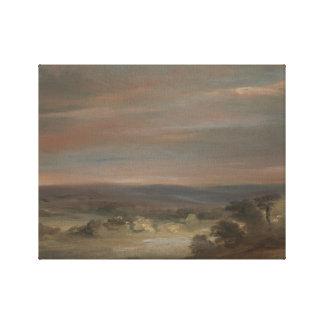 John Constable - A View on Hampstead Heath Canvas Print