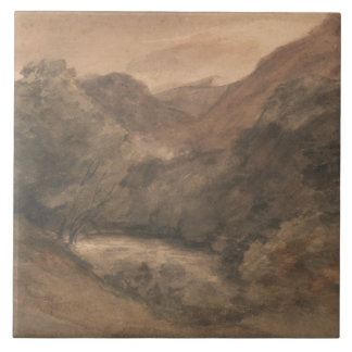 John Constable - Borrowdale- Evening after a Fine Ceramic Tile