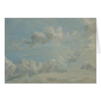 John Constable - Cloud Study Card
