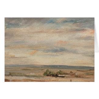 John Constable - Cloud Study, Early Morning Card