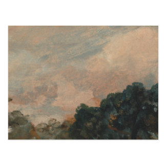 John Constable - Cloud Study with Trees Postcard