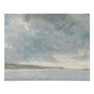 John Constable - Coastal Scene with Cliffs Art Photo