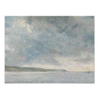 John Constable - Coastal Scene with Cliffs Photographic Print