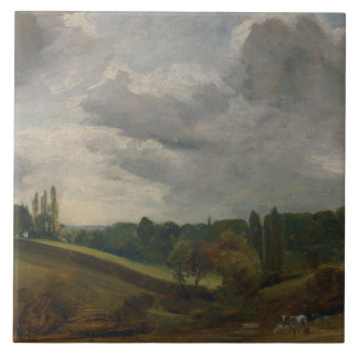 John Constable - East Bergholt Tile