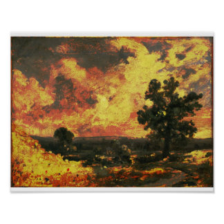 John Constable - English Landscape (Modified) Poster