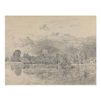John Constable - Fulham Church Postcard