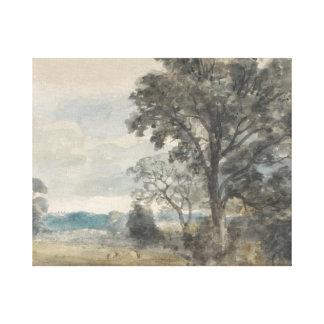 John Constable - Landscape at East Bergholt Canvas Print
