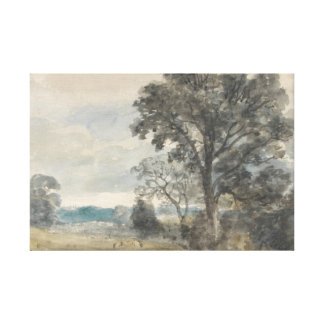 John Constable - Landscape at East Bergholt Canvas Print