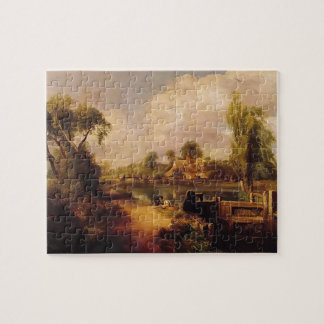 John Constable- Landscape: Boys Fishing Jigsaw Puzzle