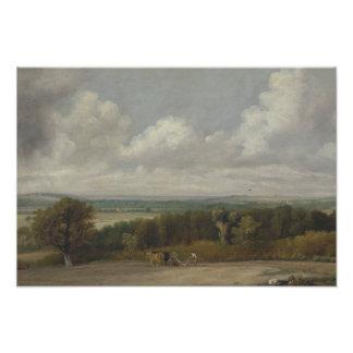 John Constable - Ploughing Scene in Suffolk Photo Art