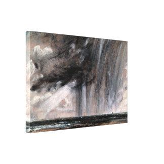 John Constable - Seascape Study with Rain Cloud Canvas Print