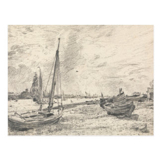 John Constable - Shipping on the Thames Postcard